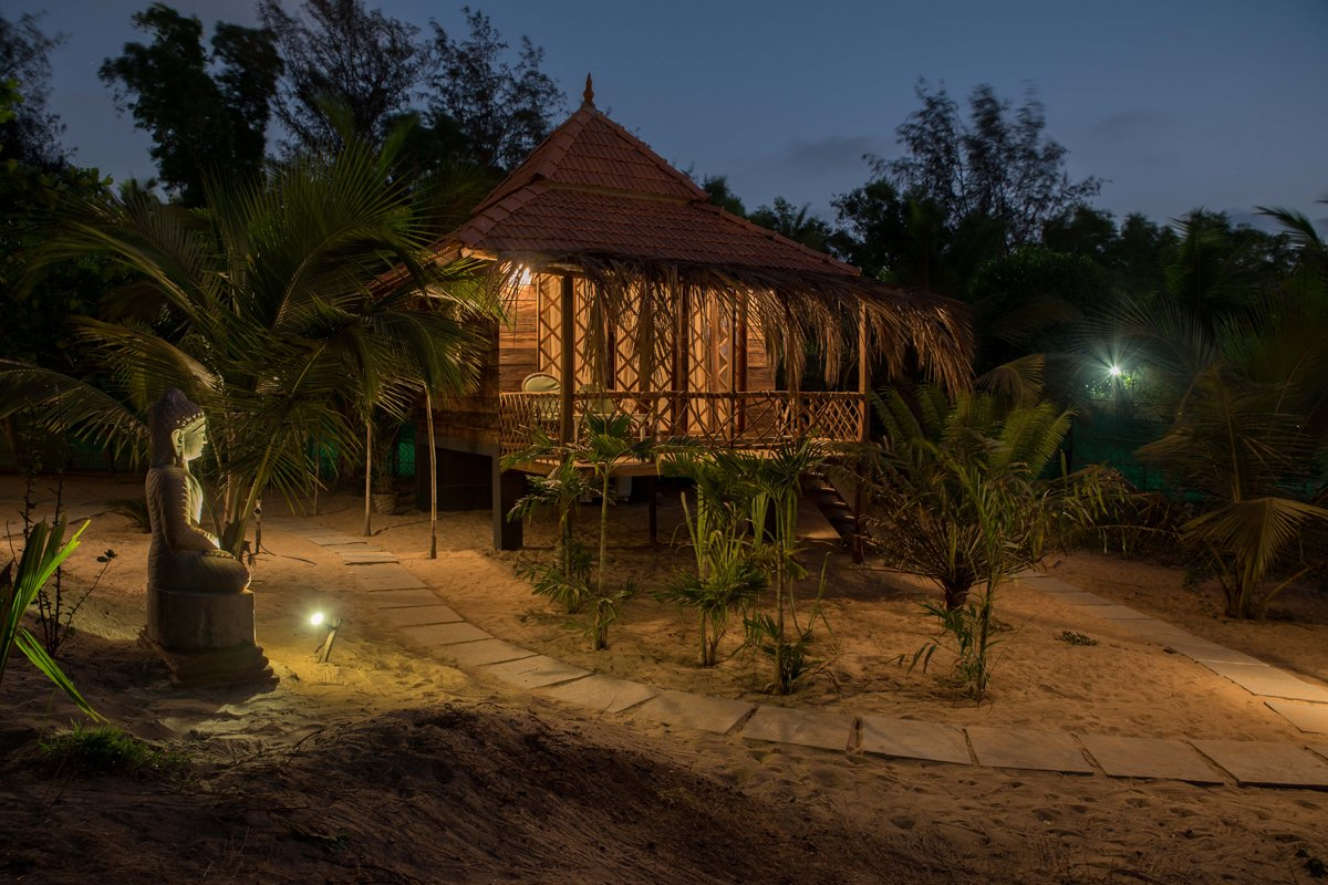 Beach cottages in Goa India